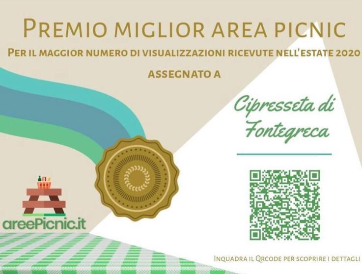 CIPRESSETA DI FONTEGRECA - PREMIO MIGLIOR AREA PICNIC 2020
